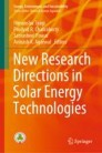 New Research Directions in Solar Energy Technologies
