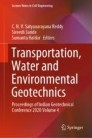 Transportation, Water and Environmental Geotechnics