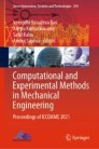 Computational and Experimental Methods in Mechanical Engineering