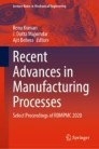 Recent Advances in Manufacturing Processes