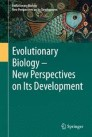 Evolutionary Biology – New Perspectives on Its Development