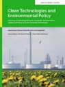Front cover of Clean Technologies and Environmental Policy