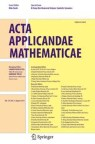 Front cover of Acta Applicandae Mathematicae