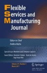 Front cover of Flexible Services and Manufacturing Journal