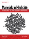 Front cover of Journal of Materials Science: Materials in Medicine