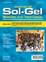 Front cover of Journal of Sol-Gel Science and Technology