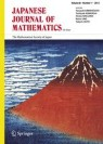 Front cover of Japanese Journal of Mathematics