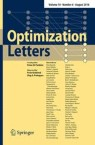 Front cover of Optimization Letters