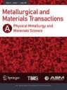 Front cover of Metallurgical and Materials Transactions A