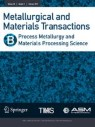 Front cover of Metallurgical and Materials Transactions B