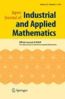 Front cover of Japan Journal of Industrial and Applied Mathematics