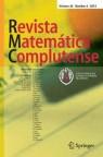 Front cover of Revista Matemática Complutense
