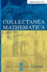 Front cover of Collectanea Mathematica