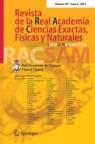 Front cover of Revista de la Real Academia de Ciencias Exactas, Físicas y Naturales. Serie A. Matemáticas