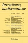 Front cover of Inventiones mathematicae