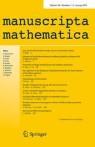 Front cover of manuscripta mathematica