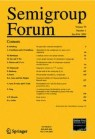 Front cover of Semigroup Forum