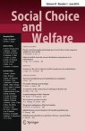 Front cover of Social Choice and Welfare