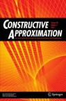 Front cover of Constructive Approximation