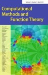Front cover of Computational Methods and Function Theory