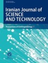 Front cover of Iranian Journal of Science and Technology, Transactions of Civil Engineering