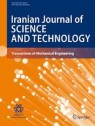 Front cover of Iranian Journal of Science and Technology, Transactions of Mechanical Engineering