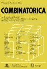 Front cover of Combinatorica