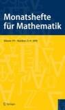Front cover of Monatshefte für Mathematik